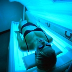 Just a few minutes in a tanning bed stimulates up to 5,000 IU of Vitamin D