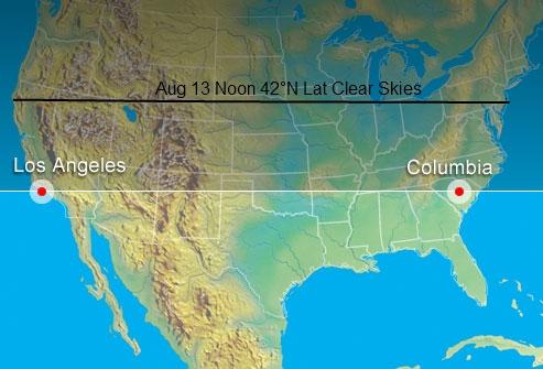 42° N Latitude USA